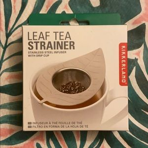 Kikkerland Stainless Steel Leaf Tea Strainer NWT